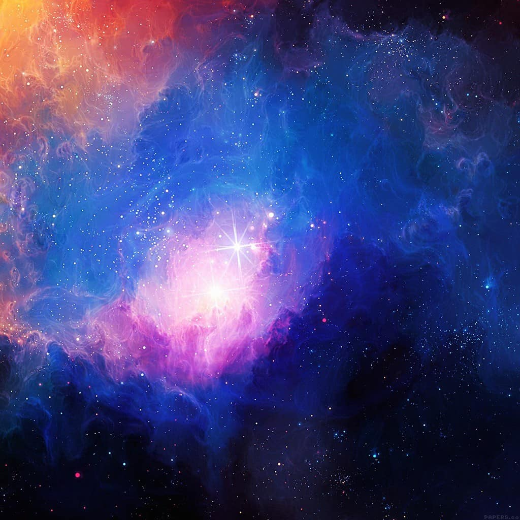 papers.co-mn48-space-aurora-art-star-illust-blue-rainbow-ipad-mini