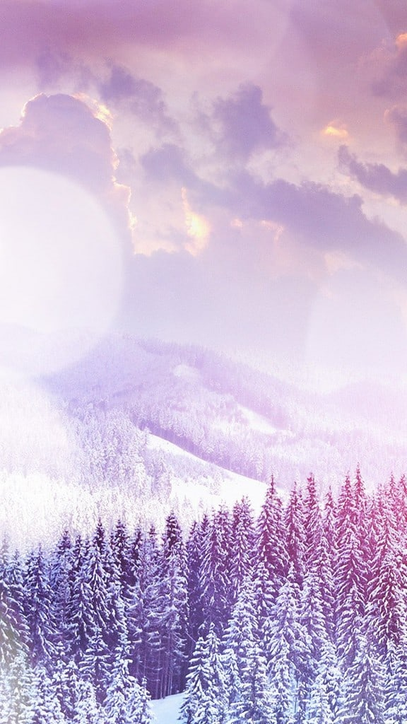 Winter-Flare-White-Snowy-Mountains-Landscape-iPhone-6-plus-wallpaper-ilikewallpaper_com