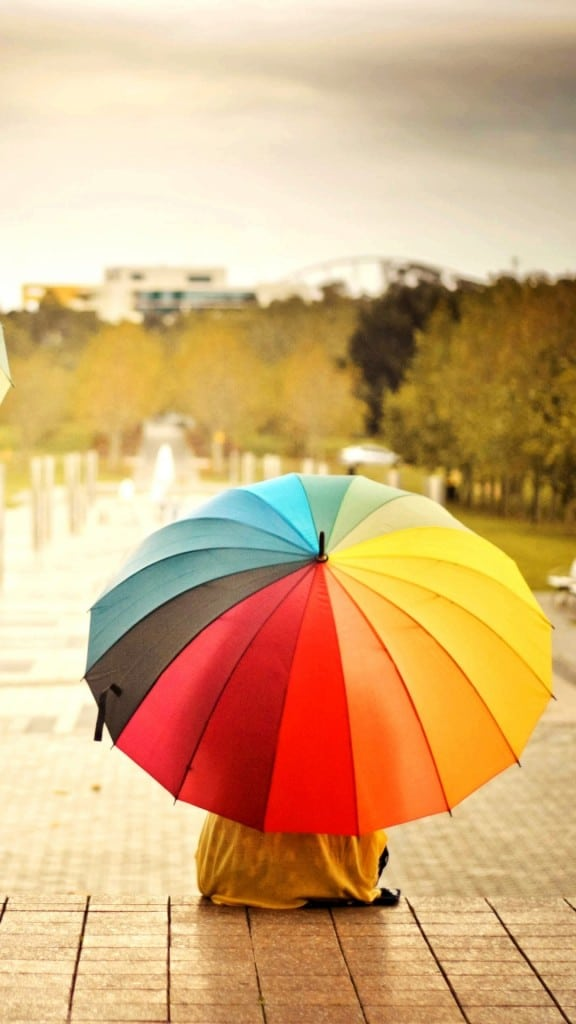 Colorful-Umbrellas-Kids-Rainbow-Weather-Mood-iPhone-6-plus-wallpaper-ilikewallpaper_com