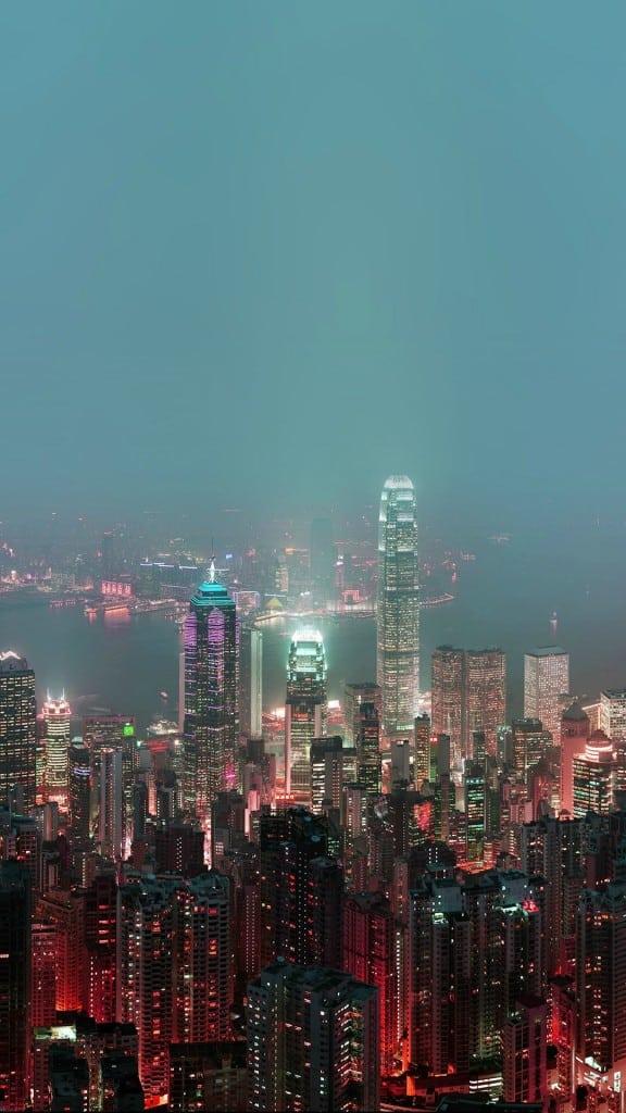 Skyline-Hongkong-Fire-City-Night-Live-iPhone-6-plus-wallpaper-ilikewallpaper_com
