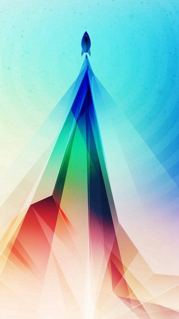 Rainbow-Blue-Tower-Graphic-Digital-Pattern-iphone-6-wallpaper-ilikewallpaper_com