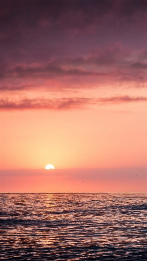 Sunset-Sea-Beach-Sky-Red-iPhone-6-wallpaper-ilikewallpaper_com_750
