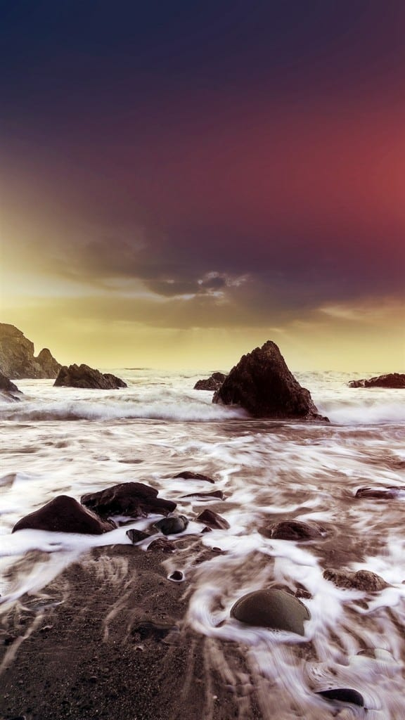 Wave-Ocean-Beach-Red-Flare-Nature-iPhone-6-wallpaper-ilikewallpaper_com_750
