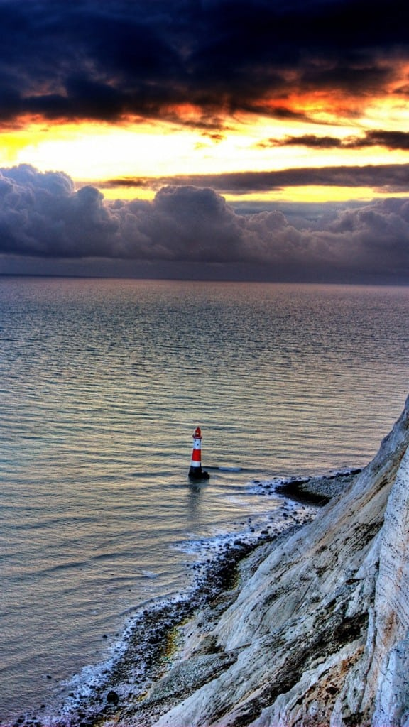 Sea-Lighthouse-Rock-Sunset