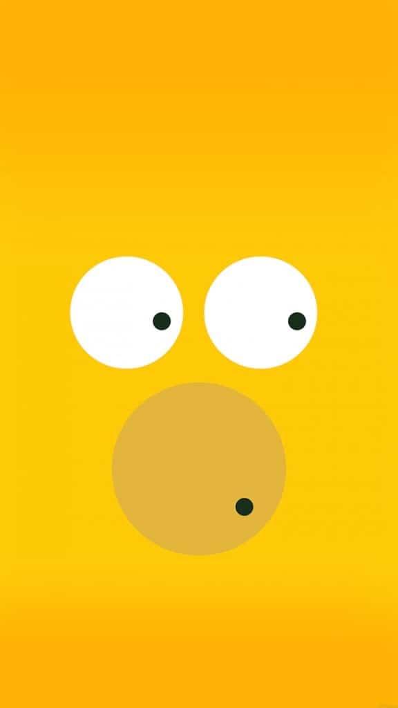 Circles-Homer-Simpson-Illust-Minimal-Art-iPhone-6