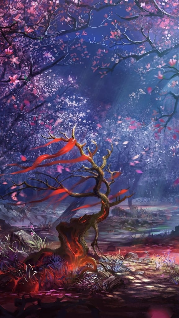Ruler-Of-The-Land-Blood-Art-Forest-iPhone-6
