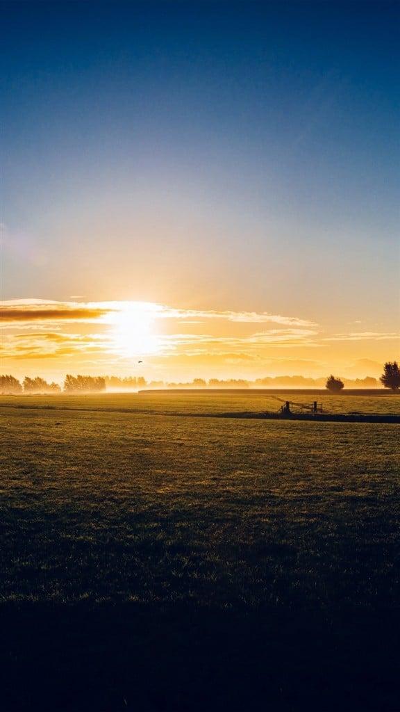 Sunny-Morning-Farm-Peace-Nature-iPhone-6