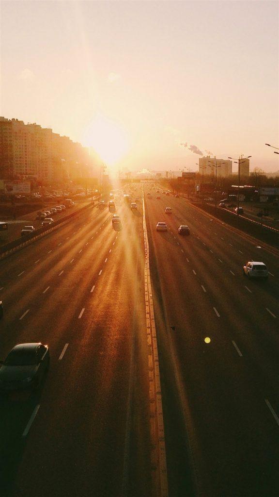 City-Sunset-Road-Car-Orange-iPhone-6-wallpaper-ilikewallpaper_com_750