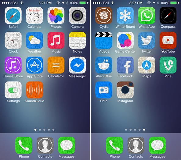 ثيم : Oil7 متوافق مع iOS7