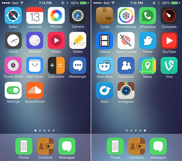 ثيم : Space Blueberry متوافق مع iOS7