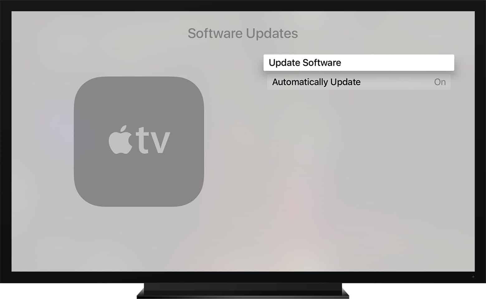 شرح : كيفية التحقق من وجود تحديثات لجهاز Apple Tv 4