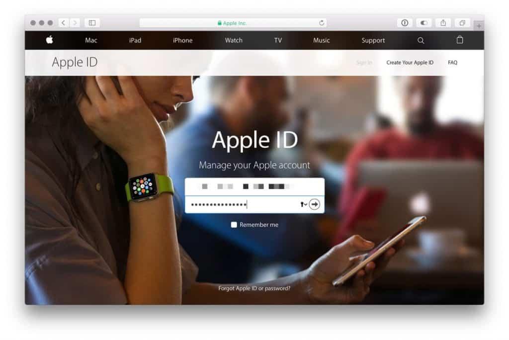 إزالة الأجهزة المرتبطة بحساب ID الخاص بك