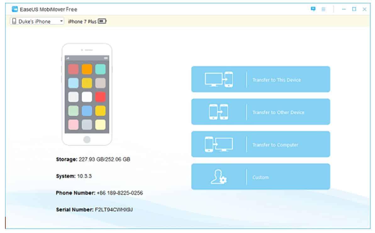نقل الملفات من الأيفون إلى الكمبيوتر أو العكس برنامج EaseUS MobiMover